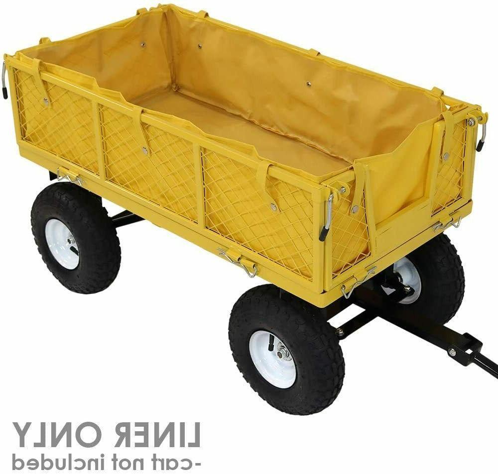 Yard Outdoor Yellow Utility Cart Wagon
