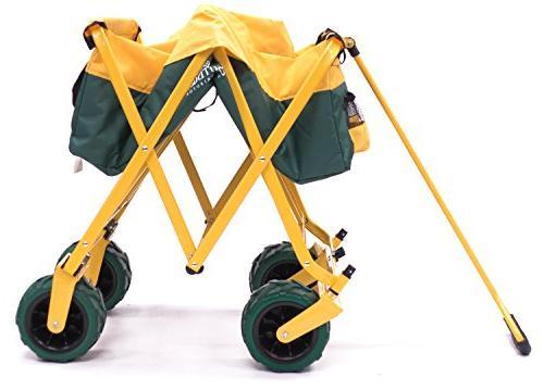 Creative Outdoor Distributor All-Terrain Folding SPORTS Team 900555 Multipurpose Cart for Camping, Beach