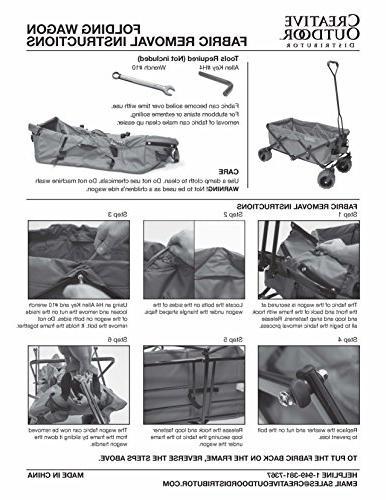 Creative Distributor Folding Wagon, Teal
