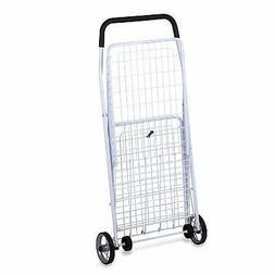 Large Folding Shopping Cart Rolling 4-Wheel Utility Wagon, W