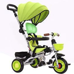 Whthteey Lightweight Children's Tricycle Multi-Function Stro