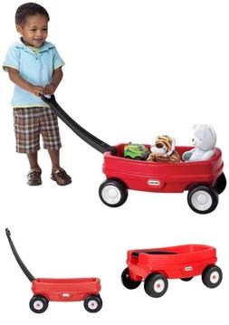 Lil' Red Wagon for a Toddler to Pull along Toys Indoors and