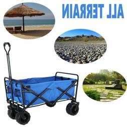 New Collapsible Folding Beach Utility Wagon Garden Sport All