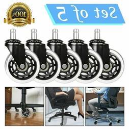 "Office Chair Caster Wheels Replacement Standard Size 3"" Heav"