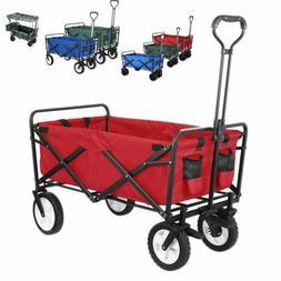 Outdoor Collapsible Folding Utility Wagon Cart Safe Garden T