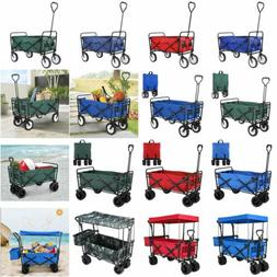 Outdoor Collapsible Folding Utility Wagon Cart Safe Garden C