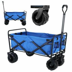 Outdoor Collapsible Folding Wagon Cart Garden Beach Utility
