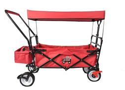 OUTDOOR FOLDING WAGON CANOPY GARDEN TRAVEL PUSH/PULL UTILITY