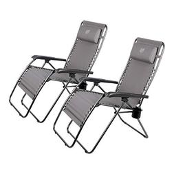 Timber Ridge Oversize Zero Gravity Lounge Chair Padded Recli