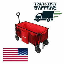 Ozark Trail HEAVY DUTY Folding Wagon w Telescoping Handle an