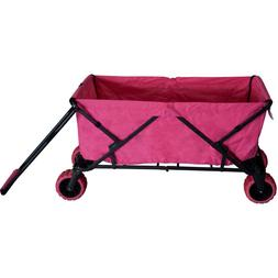 Pink Collapsible Utility Wagon Folding Canopy Girls Woman Ex
