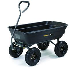 Gorilla Carts GOR4PS Poly Garden Dump Cart with Steel Frame