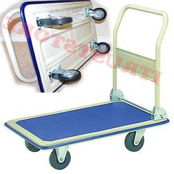 PORTABLE FOLDED FOLDING PLATFORM FLATBED FLAT HAND TRUCK CAR