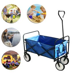 Portable Folding Wagon Utility Cart Collapsible Beach Garden