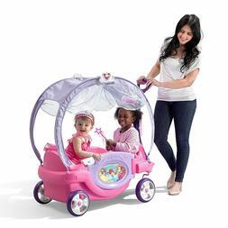Princess Chariot Carriage Wagon Car 2 Kids Canopy Disney Rid