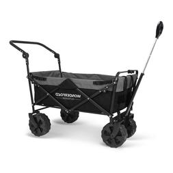 pull and push collapsible utility folding wagon
