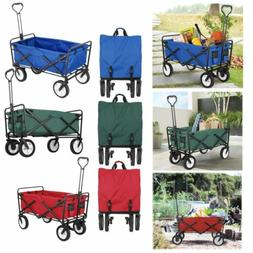 Pull Push Collapsible Folding Wagon Utility Household Camp S