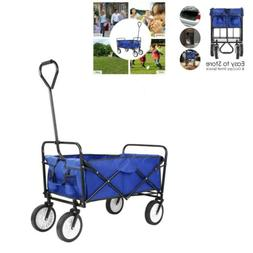 Pull Push Heavy Duty Collapsible Folding Wagon Beach Camper