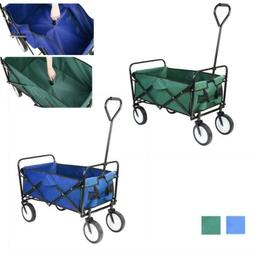 Pull Push Heavy Duty Collapsible Folding Wagon Beach Cart Ou
