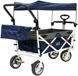 Creative Outdoor Push Pull Folding Collapsible Wagon Navy
