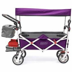 Push Pull SILVER SERIES Folding Wagon Stroller with Canopy  