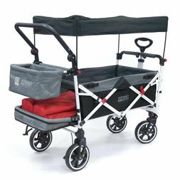 push pull titanium series folding wagon stroller