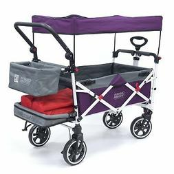 Push Pull TITANIUM SERIES Folding Wagon Stroller with Canopy