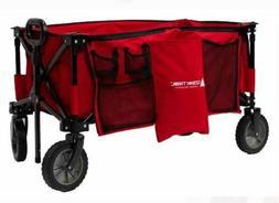 Quad Folding Wagon Telescoping Handle Carry Bag Organizer In