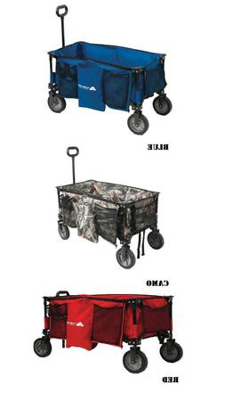 Ozark Trail Quad Outdoor Folding Wagon/Carrier with Telescop