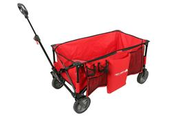 quad outdoor folding wagon carrier with telescoping