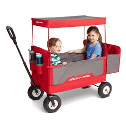 Radio Flyer, 3-in-1 all-terrain EZ Fold Wagon with Canopy, R