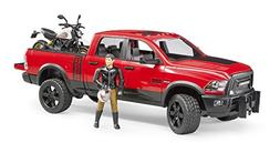 Bruder Ram 2500 Power Wagon with Ducati Scrambler Desert Sle