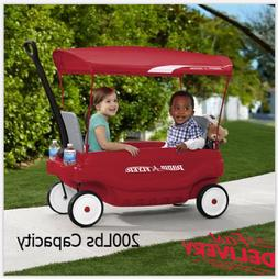 Radio Flyer Ride On Wagon Pathfinder Folding Seats w/ Canopy