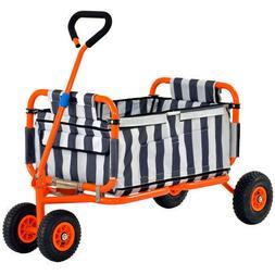 Sandusky 5 Cu Feet Folding Yard Utility Pull Cart Garden Too