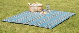 "Uquip Scotty L Outdoor Picnic Blanket - Size: 71"" x 59"" - Bl"