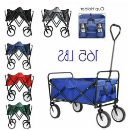 Sport Collapsible Folding Wagon Shopping Cart Utility Garden