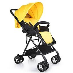 Baby Stroller 3-in-1 Baby Stroller With Rain Cover Car Seat