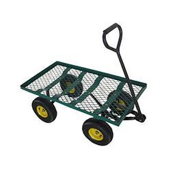 ALEKO TC4211 Heavy Duty Garden Cart Wagon Carrier Wheel Barr