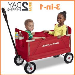 Radio Flyer All-Terrain 3-in-1 EZ Folding Wagon for kids and