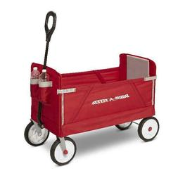 Toddler Wagon Car Kid Child Infant Red Ride On Fold Folding