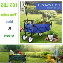 Travel Outdoor Garden Cart Collapsible Folding Wagon Wheelba