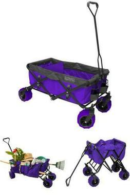 Creative Outdoor Two-Tone All-Terrain Folding Wagon - Purple