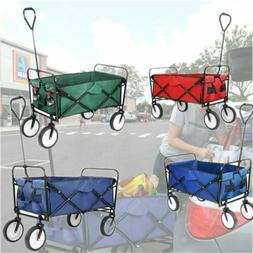 Utility Fold Wagon Collapsible Canva Cart Durable Large Size