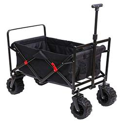 ARTPUCH Utility Folding Wagon Compact Collapsible Outdoor Fo