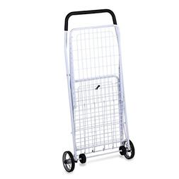 Utility Wagon Large Folding Shopping Cart Rolling 4 Wheels S