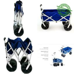 wagon cart blue white collapsible folding all