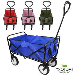Wagon Cart Kid Beach Collapsible Folding Camping Trolley Gar