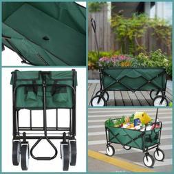 Wagon Folding Collapsible Utility Carts Sports Garden Shoppi