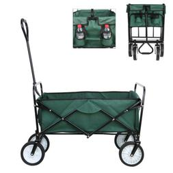 Wagon Folding Push Cart Collapsible Garden Beach Utility Out