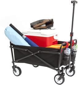 YSC Wagon Garden Folding Utility Shopping Cart,Beach Red  (R